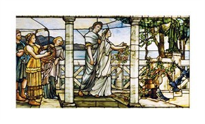 "Tiffany Studios Fine Art Open Edition Giclée:""Group of Maidens"""