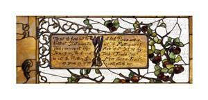"""Tiffany Studios Fine Art Open Edition Giclée:""""Enameled Favrile Glass Window"""""""