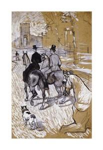 """Henri Toulouse-Lautrec Fine Art Open Edition Giclée:""""Riders on the Way to the Bois Du Bolougne"""""""