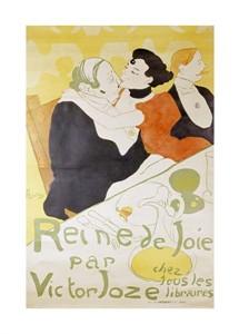 """Henri Toulouse-Lautrec Fine Art Open Edition Giclée:""""Reine de Joie"""""""