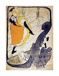 """Henri Toulouse-Lautrec Fine Art Open Edition Giclée:""""Jane Avril"""""""