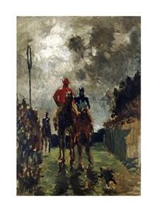 """Henri Toulouse-Lautrec Fine Art Open Edition Giclée:""""Les Jockeys"""""""