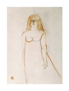 """Henri Toulouse-Lautrec Fine Art Open Edition Giclée:""""Mademoiselle Cocyte"""""""