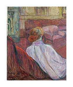 "Henri Toulouse-Lautrec Fine Art Open Edition Giclée:""Woman Sat on a Red Settee"""