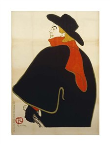 """Henri Toulouse-Lautrec Fine Art Open Edition Giclée:""""Aristide Bruant Dans Son Cabaret"""""""