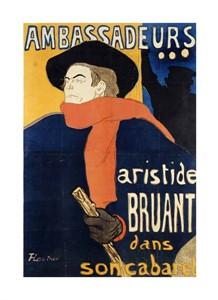 """Henri Toulouse-Lautrec Fine Art Open Edition Giclée:""""Ambassadeurs; Aristide Bruant"""""""