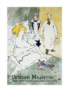 """Henri Toulouse-Lautrec Fine Art Open Edition Giclée:""""L'Artisan Moderne"""""""