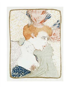 """Henri Toulouse-Lautrec Fine Art Open Edition Giclée:""""Mademoiselle Marcelle Lender En Buste"""""""