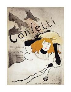 """Henri Toulouse-Lautrec Fine Art Open Edition Giclée:""""Confetti"""""""