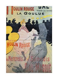 "Henri Toulouse-Lautrec Fine Art Open Edition Giclée:""Moulin Rouge, La Goulue"""