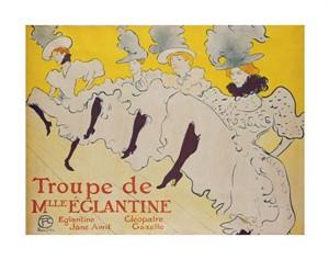 """Henri Toulouse-Lautrec Fine Art Open Edition Giclée:""""La Troupe de Mademoiselle Eglantine"""""""