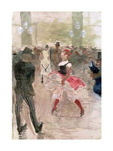 "Henri Toulouse-Lautrec Fine Art Open Edition Giclée:""At the Elysee, Montmartre"""
