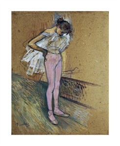 "Henri Toulouse-Lautrec Fine Art Open Edition Giclée:""A Dancer Adjusting Her Leotard"""