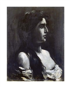 """Lesser Ury Fine Art Open Edition Giclée:""""A Young Girl in Profile"""""""