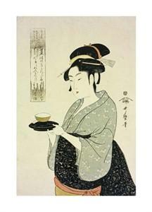 "Kitagawa Utamaro Fine Art Open Edition Giclée:""Portrait of Naniwaya Okita"""