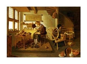 """Gerritsz Quiryn Van Brekelenkam Fine Art Open Edition Giclée:""""The Interior of a Cobbler's Shop"""""""