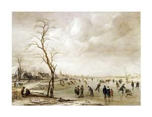 """Aert Van Der Neer Fine Art Open Edition Giclée:""""A Winter Landscape"""""""