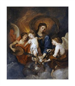 "Anthony Van Dyck Fine Art Open Edition Giclée:""The Madonna and Child with Two Musical Angels"""