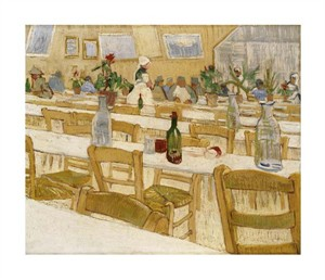 "Vincent Van Gogh Fine Art Open Edition Giclée:""A Restaurant Interior"""