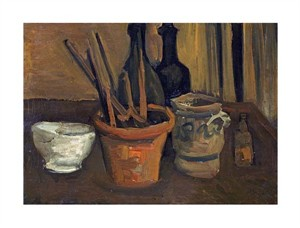 "Vincent Van Gogh Fine Art Open Edition Giclée:""Still Life of Paintbrushes in a Flowerpot"""