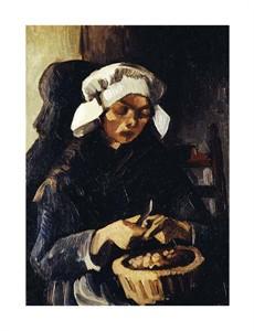 """Vincent Van Gogh Fine Art Open Edition Giclée:""""A Farmer from Neunen, Peeling Potatoes"""""""