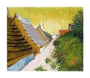 """Vincent Van Gogh Fine Art Open Edition Giclée:""""Farmhouses at Saintes-Maries"""""""