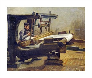 "Vincent Van Gogh Fine Art Open Edition Giclée:""Weaver:the Whole Loom, Facing Right"""