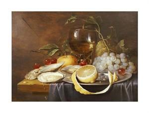 """Joris Van Son Fine Art Open Edition Giclée:""""A Roemer, a Peeled Half Lemon on a Pewter Plate"""""""