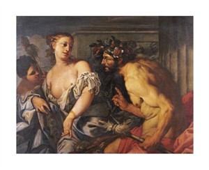 "Antonio Zanchi Fine Art Open Edition Giclée:""Hercules and Omphale"""
