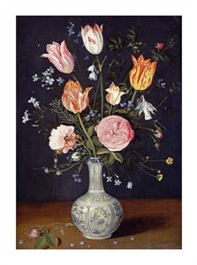 "Jan Brueghel Fine Art Open Edition Giclée:""Tulips, Roses, Forget-Me-Nots and Other Flowers"""
