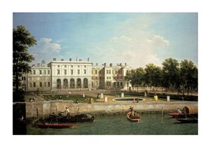 "Giovanni Antonio Canal Fine Art Open Edition Giclée:""Old Somerset House from the River Thames, London"""