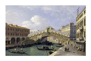 """Giovanni Antonio Canal Fine Art Open Edition Giclée:""""The Rialto Bridge, Venice"""""""
