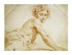 "Annibale Carracci Fine Art Open Edition Giclée:""A Boy Looking Over His Shoulder"""