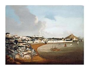 "Chinese School Fine Art Open Edition Giclée:""View of the Praya Grande, Macao"""