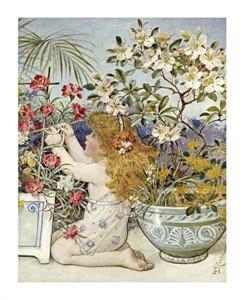"William Stephen Coleman Fine Art Open Edition Giclée:""The Flower Girl"""