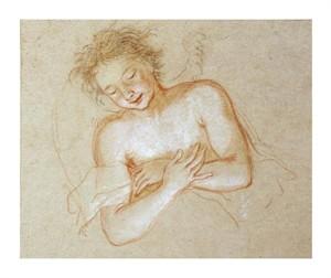 "Antoine Coypel Fine Art Open Edition Giclée:""A Flying Angel"""