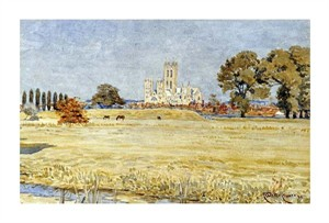 "Walter Crane Fine Art Open Edition Giclée:""Canterbury Cathedral"""