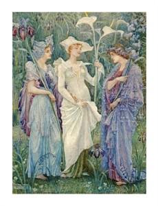 "Walter Crane Fine Art Open Edition Giclée:""Ensigns of Spring"""