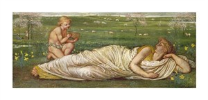 "Walter Crane Fine Art Open Edition Giclée:""The Earth and Spring"""