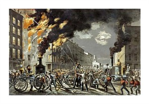"""Currier and Ives Fine Art Open Edition Giclée:""""The Life of a Fireman"""""""
