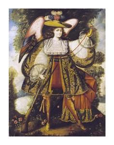 "Cuzco School Fine Art Open Edition Giclée:""Arcangel Con Arcabuz"""