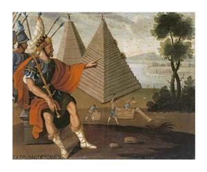 "Cuzco School Fine Art Open Edition Giclée:""The Pyramids of Egypt"""