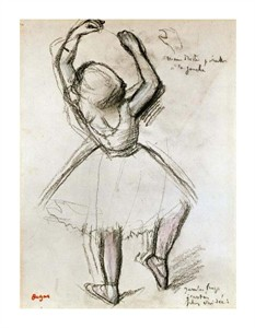 "Edgar Degas Fine Art Open Edition Giclée:""Backview of a Dancer"""