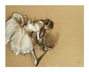 "Edgar Degas Fine Art Open Edition Giclée:""Dancer Adjusting Her Shoe"""