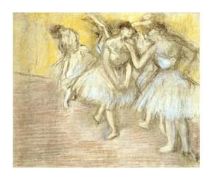 "Edgar Degas Fine Art Open Edition Giclée:""Five Dancers on Stage"""