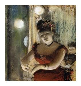 """Edgar Degas Fine Art Open Edition Giclée:""""Singer in a Café"""""""