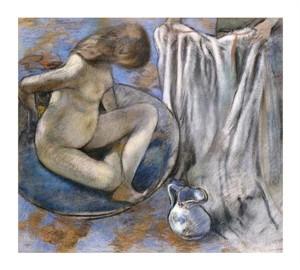 "Edgar Degas Fine Art Open Edition Giclée:""Woman in the Tub"""