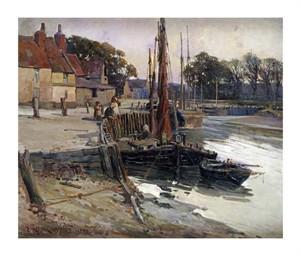 "Edward Reginald Frampton Fine Art Open Edition Giclée:""A Cornish Fishing Village"""