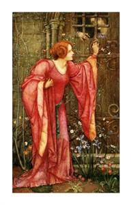 "Edward Reginald Frampton Fine Art Open Edition Giclée:""Stone Walls Do Not a Prison Make, Nor Iron Bars a Cage"""