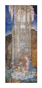 "Edward Reginald Frampton Fine Art Open Edition Giclée:""The Gothic Tower"""